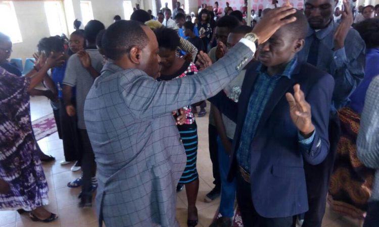 Apostle Matoka ministering deliverance